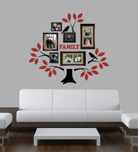 2 color family tree kit vinyl wall lettering vinyl wall decals vinyl letters vinyl lettering wall quotes family decal home decal