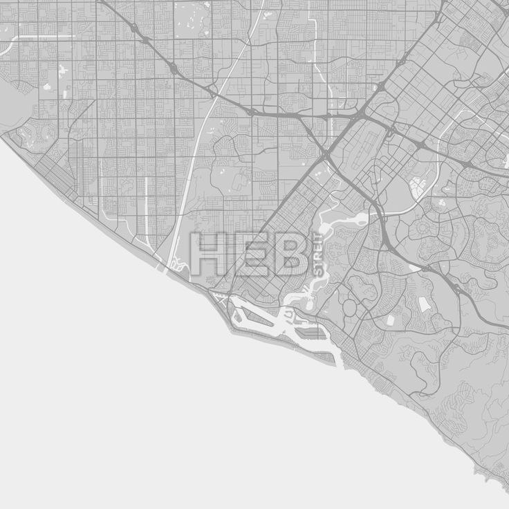 Costa Mesa downtown and surroundings Map in grey version with many details for high zoom levels. This map of Costa Mesa contains typical landmarks wit... ... #map #download #citymap #areamap #usa #background #clean #city #area #modern #landmarks #ui #ux #hebstreit