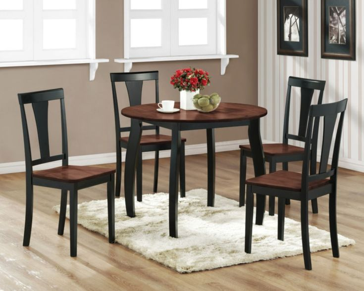 Black And Oak Kitchen Chairs