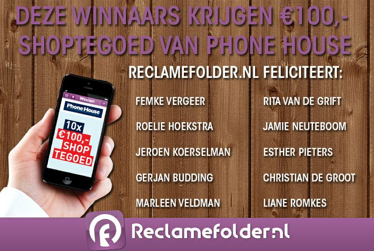 De winnaars van het shoptegoed ter waarde van €100,- zijn bekend. Ben jij één van de gelukkige winnaars? @Reclamefolder.nl