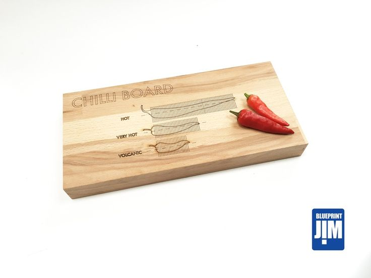 Chilli Cutting  Board made from Solid Beech