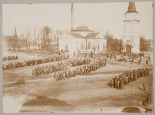 Red guard POWs in Tampere