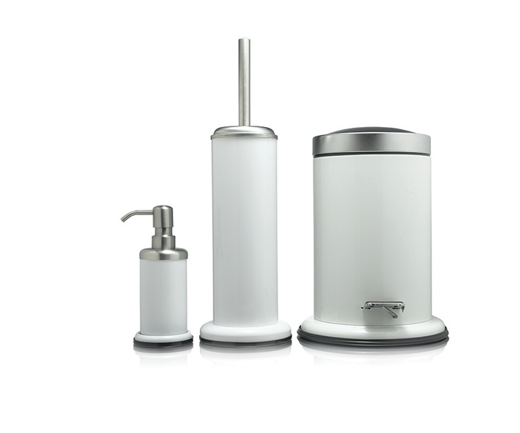 coordinated bathroom accessories. sealskin \u0027acero\u0027 accessoires materiaal: rvs verkrijgbaar in de kleuren: wit, zwart. bathroom accessories coordinated