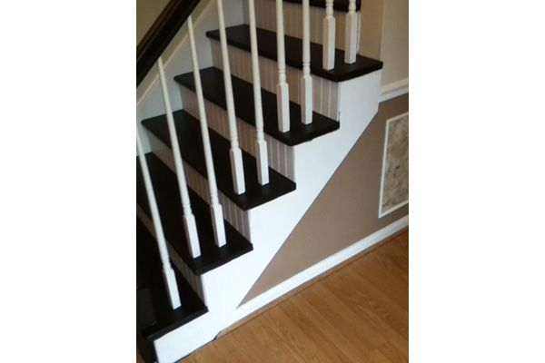 16 best black and white stair ideas images on pinterest for Ideas for redoing stairs