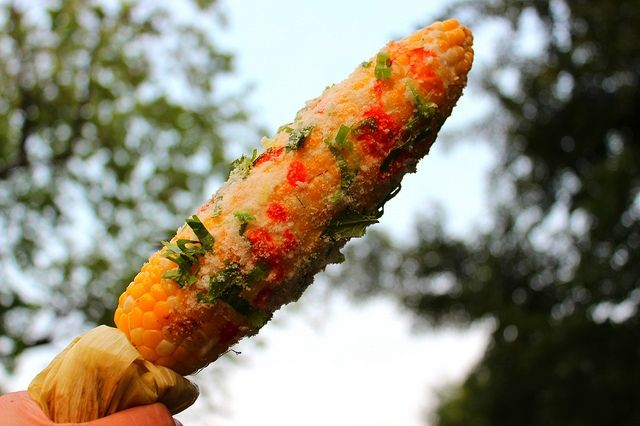 ... corn and cilantro roasted corn with cilantro butter recipe dishmaps