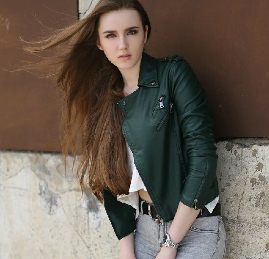 leather jacket street fashion - Google Search