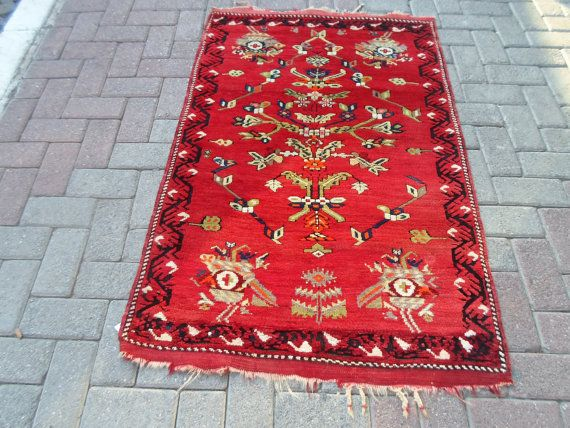 Vintage west anatolian Bergama   hand wowen wool on by ArasCarpet