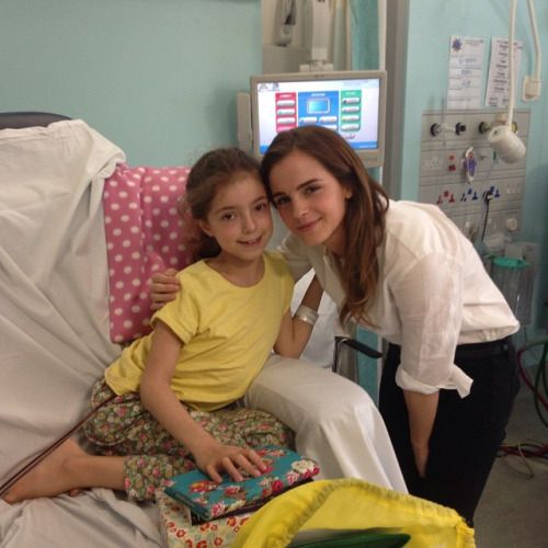 Emma Watson visited a Children's hospital today June 4th
