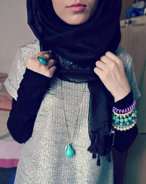 Black shirt with a sparkly tunic!