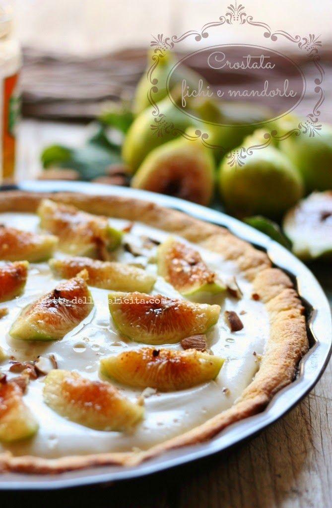 La ricetta della felicità: Crostata leggera ai fichi e mandorle senza burro, senza olio, senza zucchero, senza glutine!