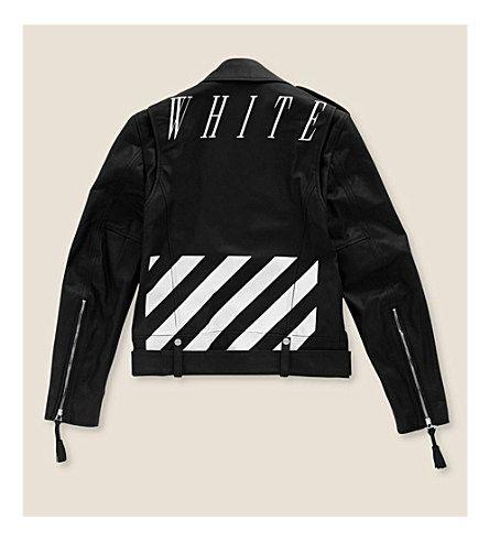 OFF-WHITE C/O VIRGIL ABLOH Printed leather jacket (Black