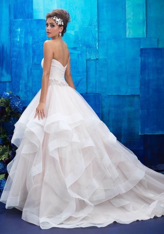 Featured Dress: Allure Bridals; Wedding dress idea.