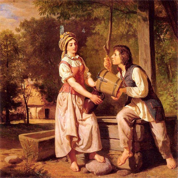 Wojciech Gerson - At the Well (Przy studni)  1870