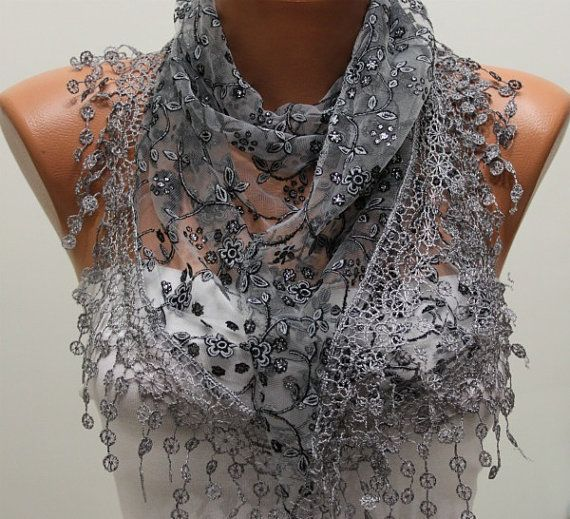 Women Shawl Scarf  Headband Necklace Cowl by fatwoman on Etsy, $19.00