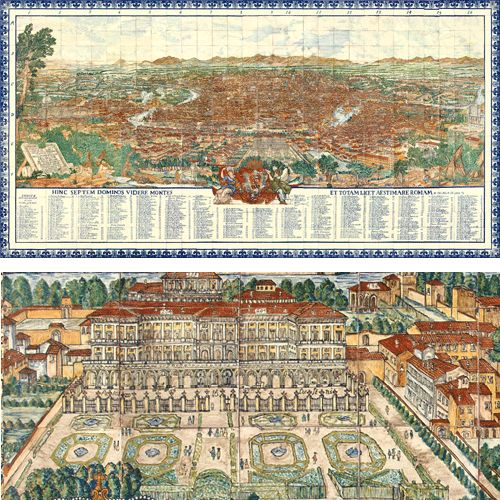 Mural Map of Rome and Detail (size 5.94 x 3.06 mts)