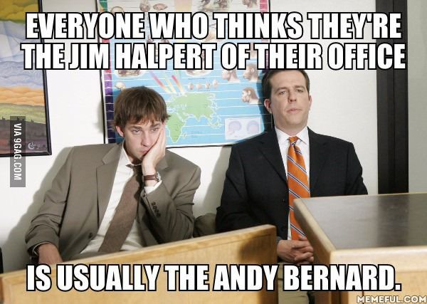 Jim Halpert and Andy Bernard.