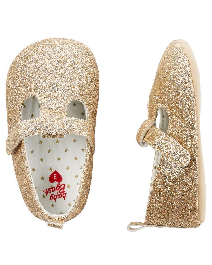 Baby Girl OshKosh Sparkle Mary Jane Crib Shoes | OshKosh.com