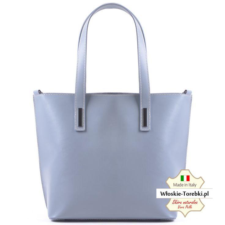 Popielata torba ze skóry naturalnej - model Patrizia. Made in Italy -> sprawdź cenę promocyjną Kliknij http://wloskie-torebki.pl/sklep/duze-torby-damskie/166-popielata-torba-ze-skory-model-patrizia-miesci-a4.html