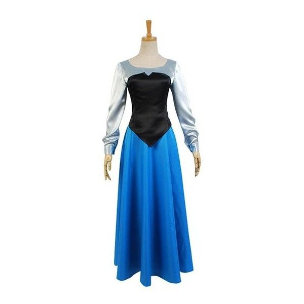 Daiendi The Little Mermaid Princess Ariel Uniform Ball Gown Dress... (94 CAD) ❤ liked on Polyvore featuring costumes, princess halloween costumes, ariel costume, adult princess halloween costumes, adult costume and blue halloween costume