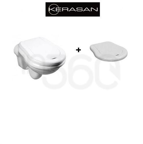 Kerasan Retro Miska wiszaca z deską wolnoopadającą biała (101501+108901) 101501+108901