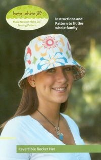With this unique reversible pattern, being versatile has never been so...fashionable.  The Reversible Bucket Hat is fab.