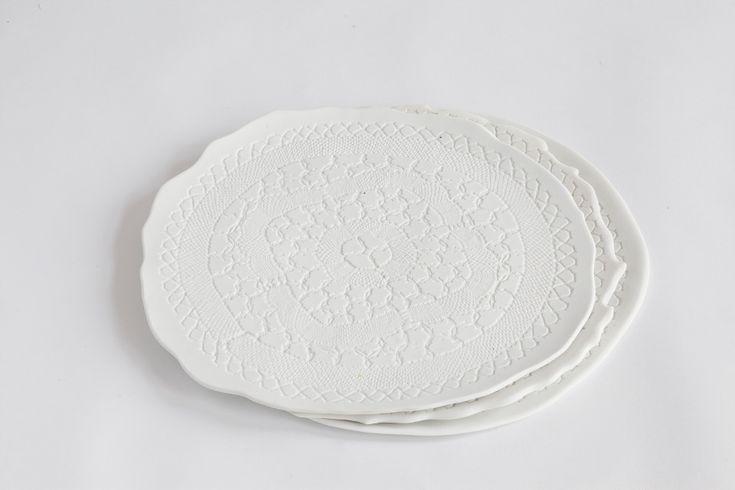 Earthenware plate Inge Becka