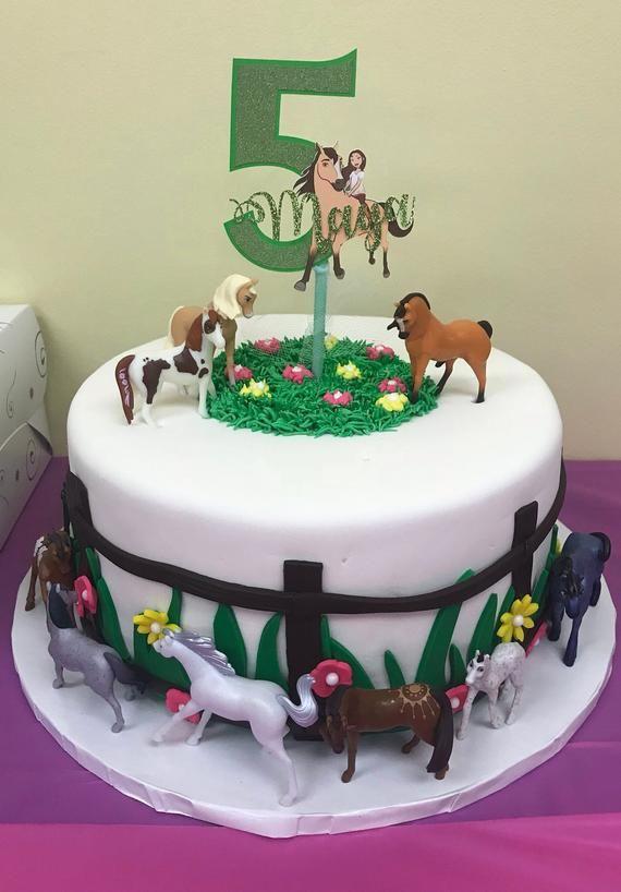 Spirit Riding Free Cake Topper, Cake Topper, Spirit Cake ...
