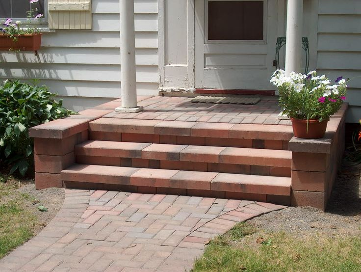 30 best paver steps images on pinterest | backyard ideas, brick ... - Patio Step Ideas