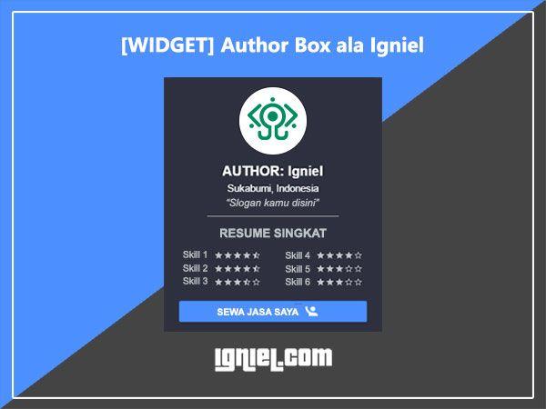 Widget Author Box ala Igniel dengan Resume Skill Singkat