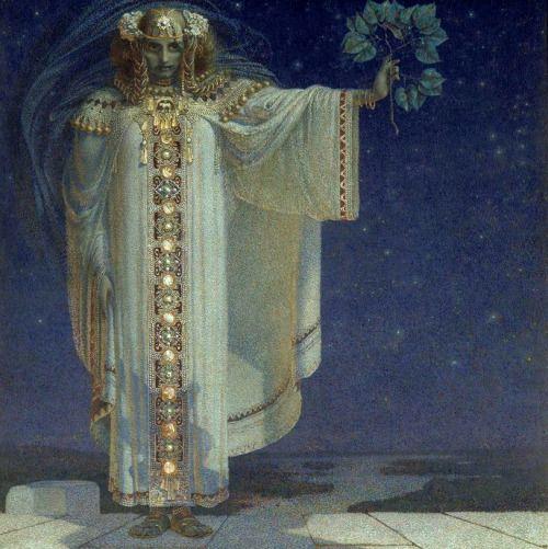 Karel Mašek, La prophétesse Libuše (The prophetess Libuse)  c.1893, oil on canvas, 193 x 193 cm, Musée d'Orsay, Paris