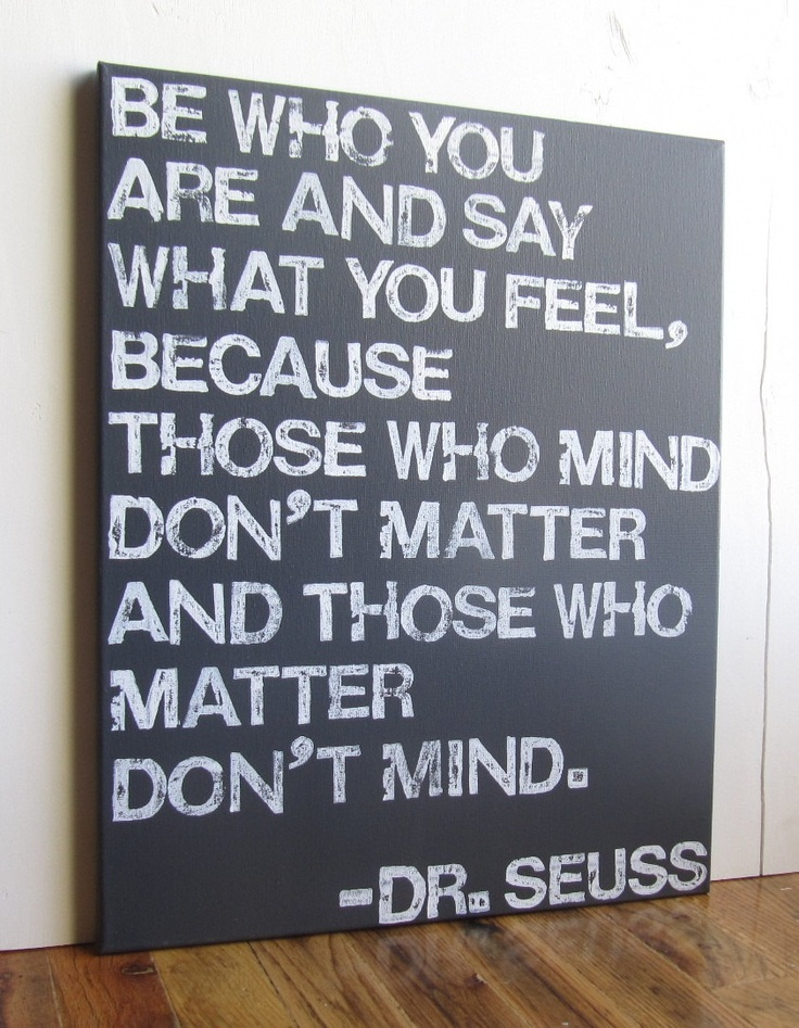 16X20+Canvas+Sign++Be+Who+You+Are+And+Say+What+by+EpiphanysCorner,+$55.00