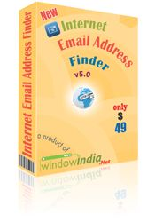 The Internet Email Address Finder is software which has made the task of finding email addresses very easily. It has emerged as one of the fastest tools for extracting a number of email addresses from the internet by using many search engines like Google, Yahoo, Bing, Ask.com, etc.