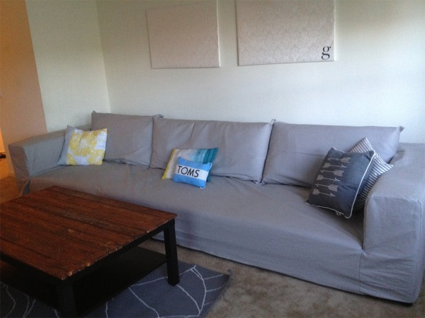Easy Diy Slipcover For Your Couch Great Way To Change The Color Of Your Couch For