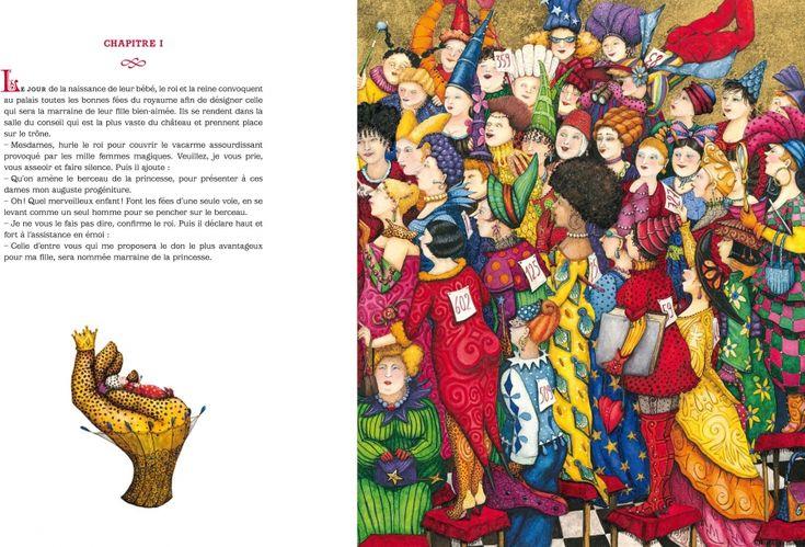 """Valérie Dumas illustration for """"La Princesse Parfaite""""."""