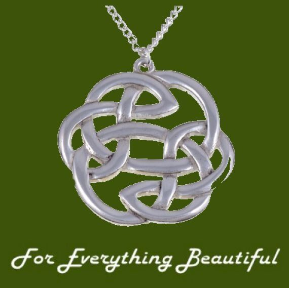 Celtic Lughs Knotwork Design Large Stylish Pewter Pendant