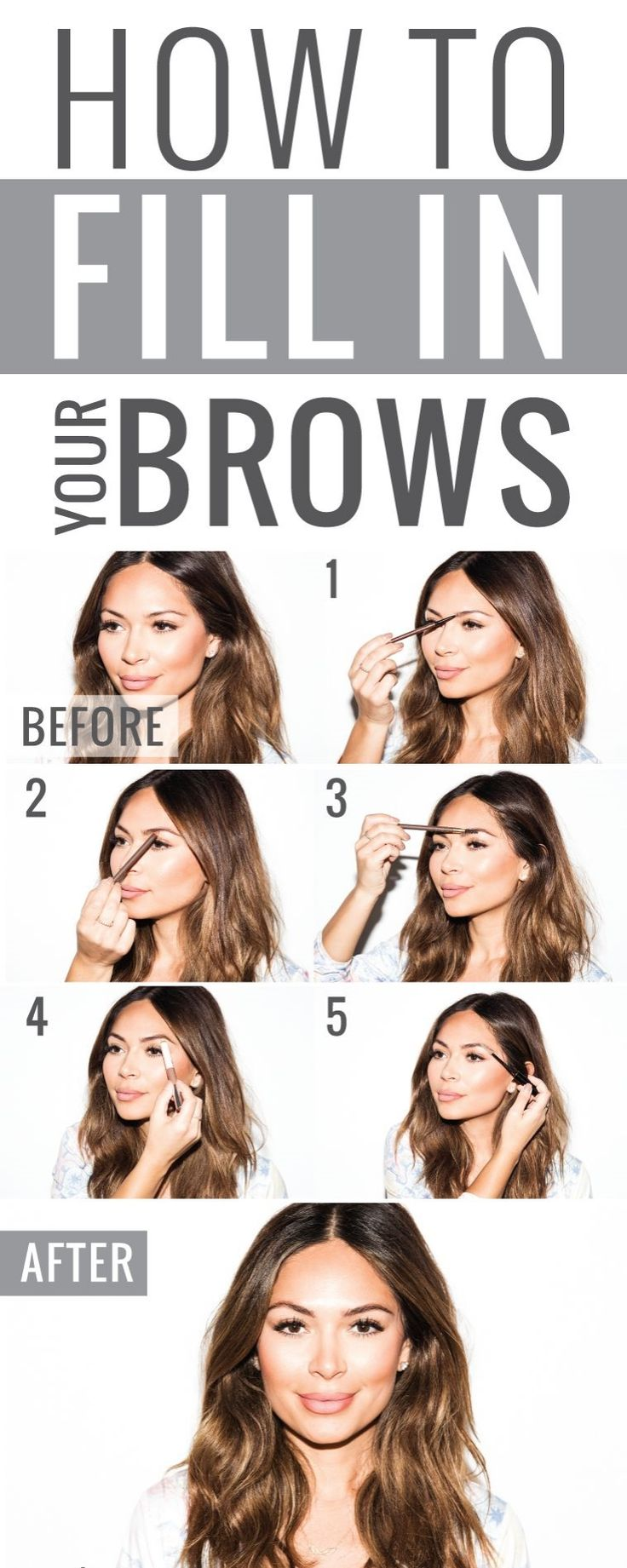 How To Fill In Your Brows Naturally | Brows, Brow tutorial ...