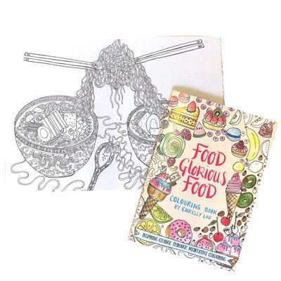 Australian Made Gifts & Souvenirs with the Food Glorious Food Colouring In Book -by Chrissy Lau at Bits of Australia