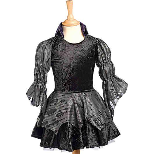 So wird die nächste Halloween- Party zum unvergesslichen Erlebnis!<br /> Das schwarze Kleid in Samtoptik verfügt über zusätzliche Details wie durchschimmernde Ärmel und einen typischen Dracula- Stehkragen.<br /> <br /> Bestandteile: 1 Kleid<br /> Material: 94 % Polyester, 6 % Polyamid
