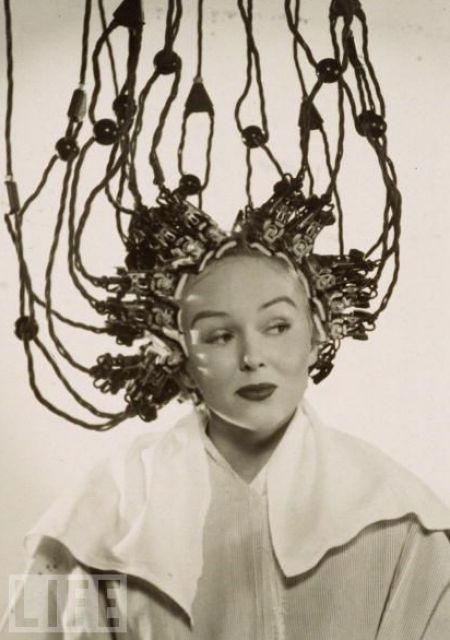 vintage everyday: Vintage Photos of Hair Dryers