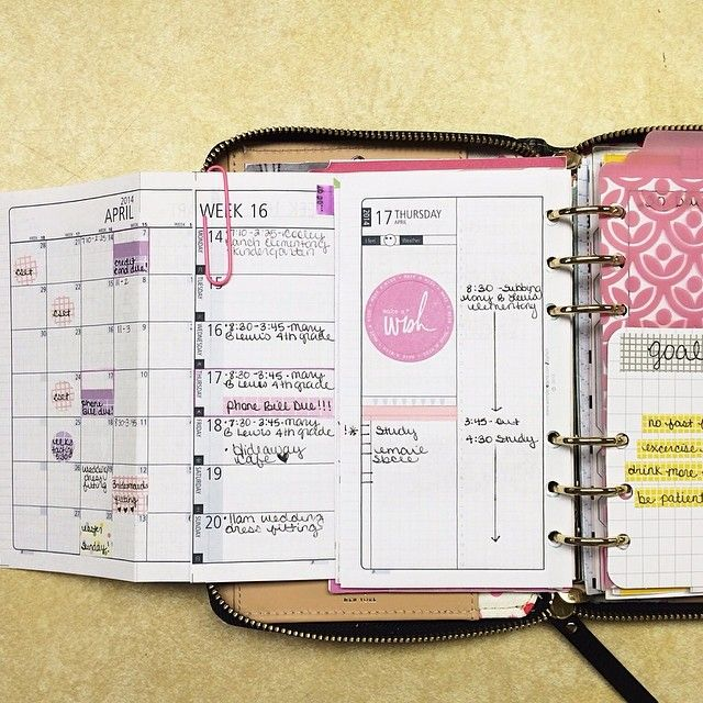 Clever planner idea that allows you to see monthly, weekly, and daily pages at the same time. by D.I.Y Fish
