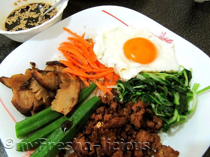 myFresha-licious: Bibimbap  | more Filipino and Asian recipes at http://www.myfresha-licious.com/