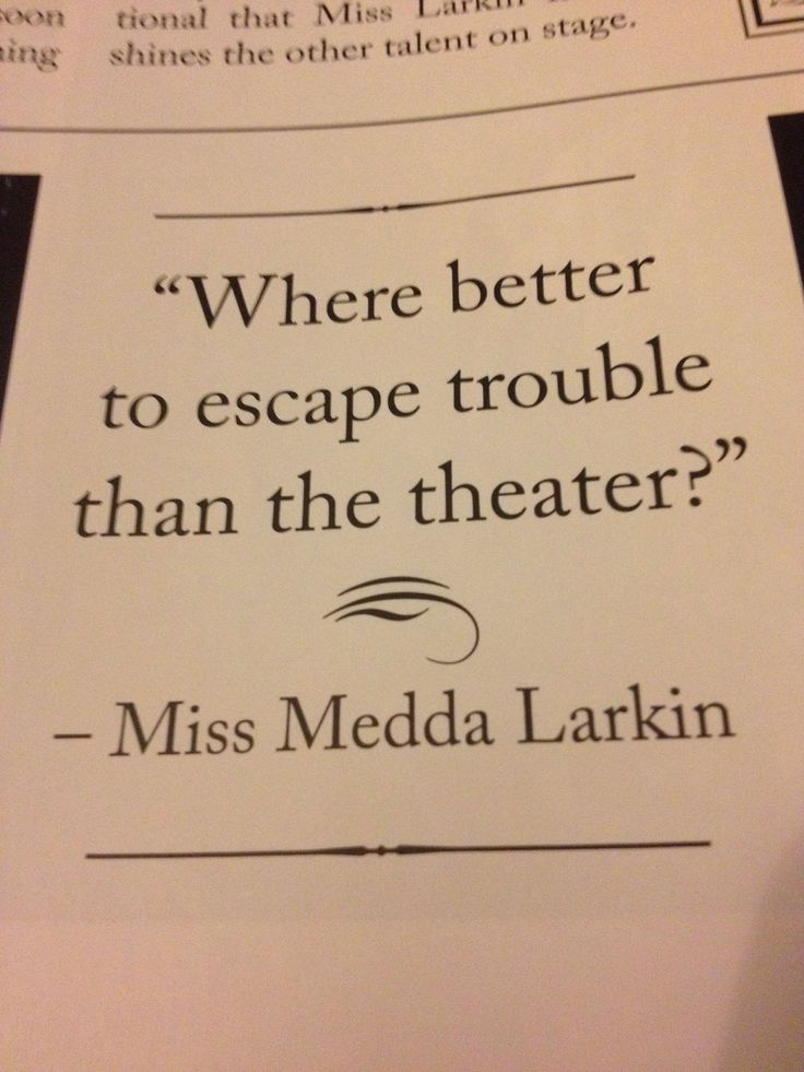 Medda Larkin ~ Newsies