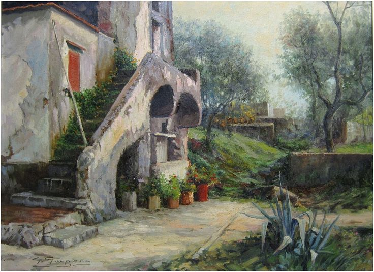Angolo a S. Vito by giuseppe gorgero  Dipinto ad olio cm.30x40