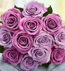 my favorite: Lavender roses: The giver of the purple rose seeks to convey that he or she has fallen in love with the recipient at the very first sight. A deep magnetism and charm that makes the recipient almost irresistible is what the purple rose seeks to convey. T
