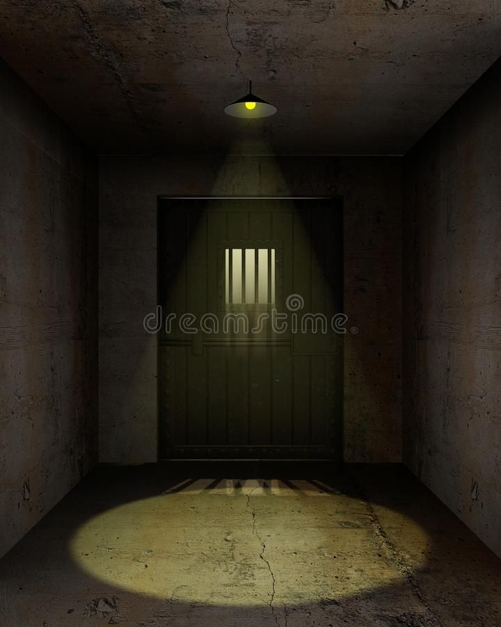 Empty Prison Cell Illustration Of An Empty Jail Cell With A Lamp Hanging On The Sponsored Cell Illustration Prison Cell Prison Vintage Graphic Design