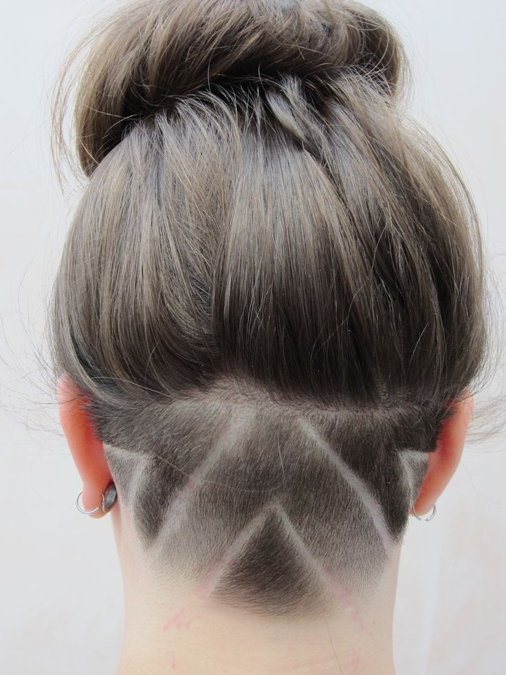 long hair with shaved undercut styles