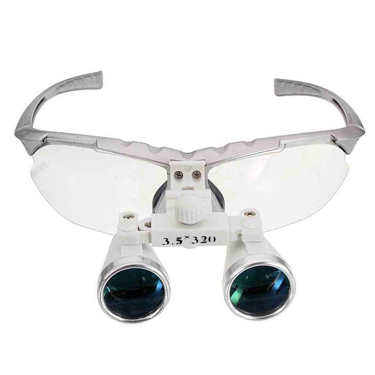 3.vidrio óptico 5x 320mm dentales lupas binoculares quirúrgicas LED Lámpara de luz de la cabeza