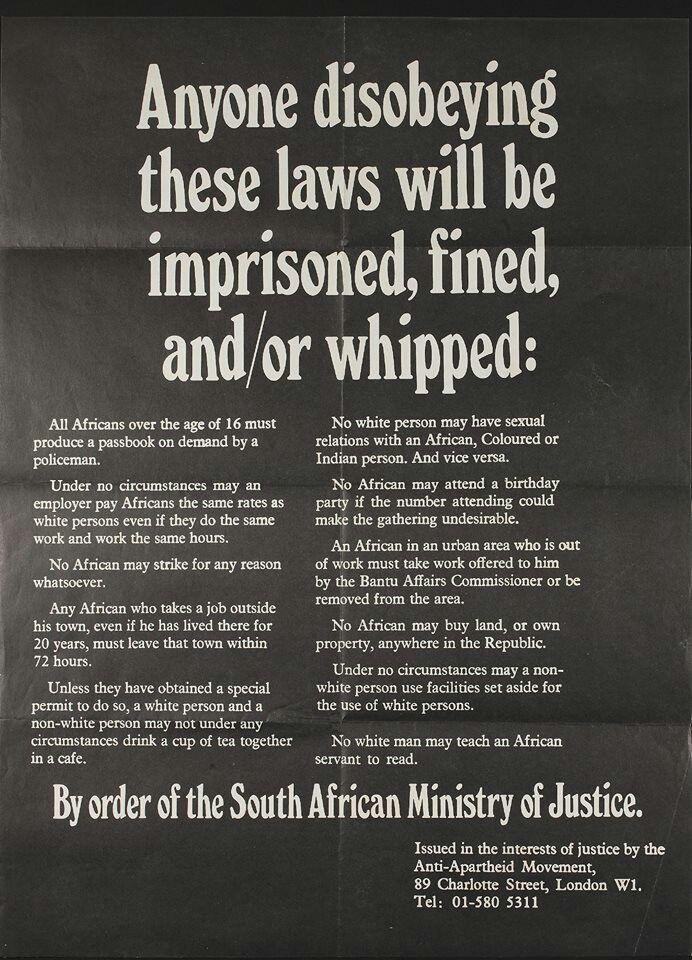 South Africa apartheid!!! Wow