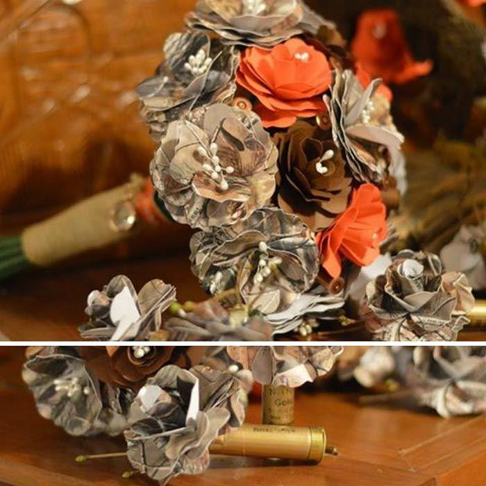 Camo Wedding Bouquet made with Realtree Camo