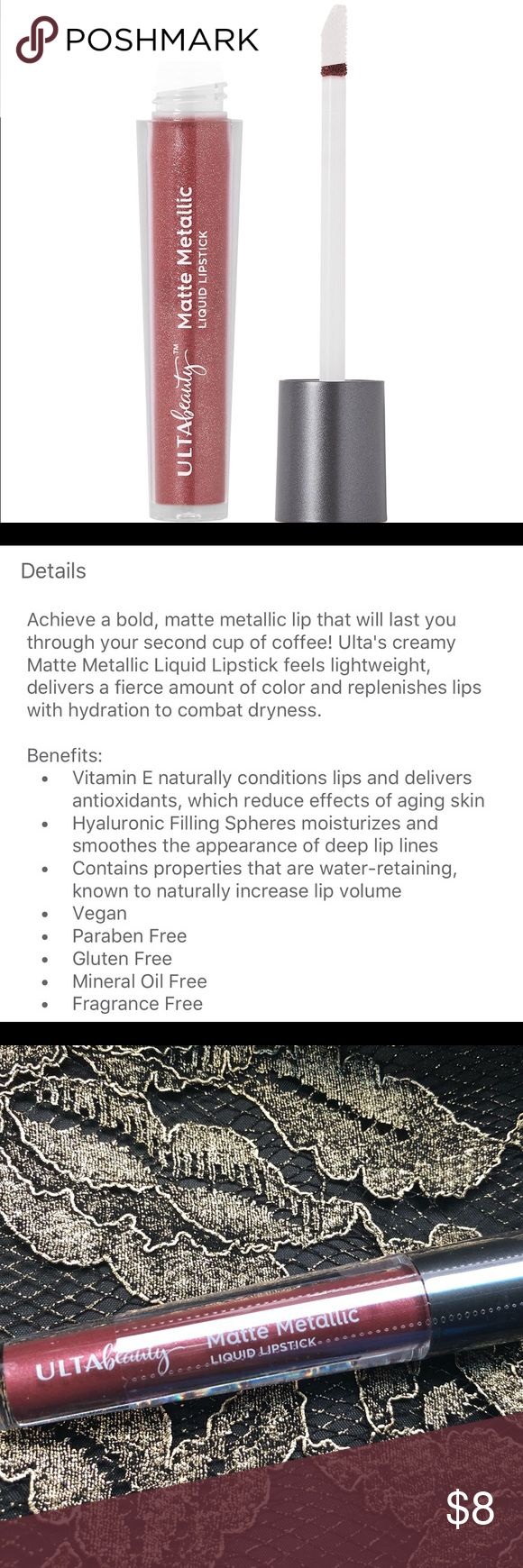 ulta beauty matte metallic liquid lipstick brand new